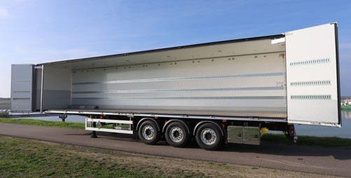 Ekeri ADR EXIII classed semi-trailer with side doors for Antonisen Transport